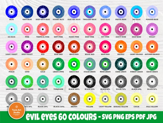 Evil Eye SVG Bundle, Svg Cut Files, Wall Art Print