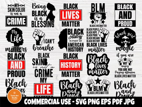 Black Lives Matter SVG Bundle, Black History Svg