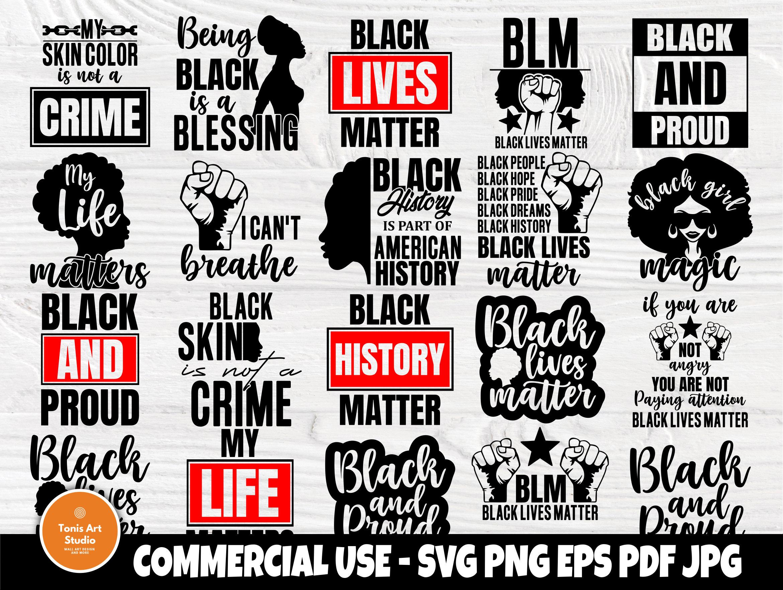 Black Lives Matter Svg Bundle Black History Svg