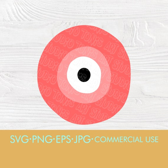Evil Eye SVG, Greek Evil Eye, Pink Eye, Evil Eye PNG, svg files for cricut, silhouette svg, digital download, lucky pattern, cut files