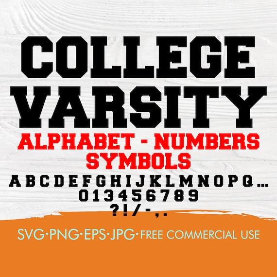 Varsity font SVG | College font svg | Varsity alphabet svg | College alphabet svg | Varsity letters and numbers | Sport alphabet svg