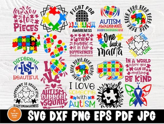 Autism SVG Bundle, Autism Awareness Svg Cut Files