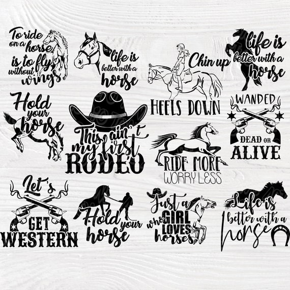 Horse SVG bundle | Horse quotes svg | Horse cut files | Horse signs | Horse clipart | Cut files for cricut and silhouette | Cowgirl svg