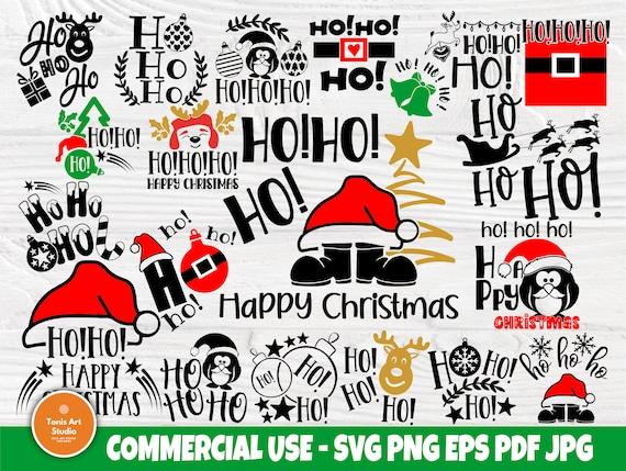 Funny Christmas SVG Bundle, Ho Ho Ho Svg Cut Files