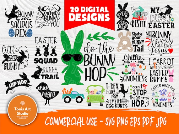 Easter SVG Bundle | Easter Cut Files | Easter Svg | Easter Signs | Svg Bundle | Cricut, Silhouette Cut Files | Rabbit Svg | Easter Eggs Svg