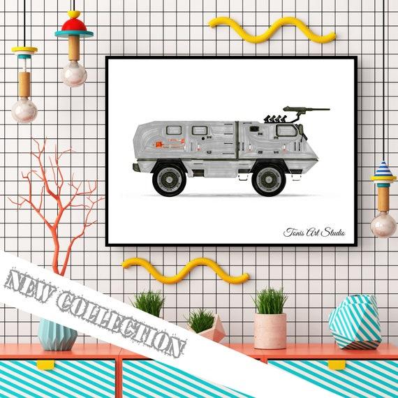 Army Vehicles Decor, Transportation Art, Military Print, Boys Room Decor, Watercolor, Toddler Room Art, Printable Wall Art, Digital Artwork