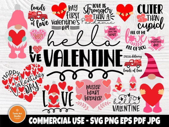 Valentine Gnomes SVG Bundle, Valentines Day Shirts
