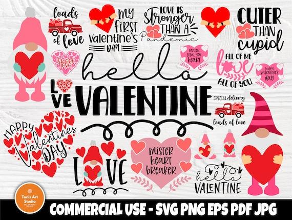 Valentine Gnomes SVG Bundle, Valentines Day Shirts