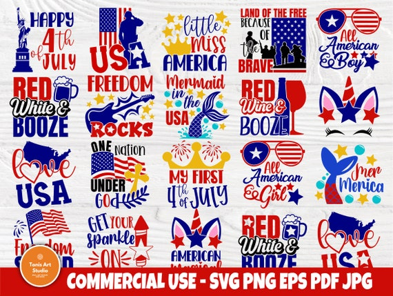 4th of July SVG Bundle, Love USA SVG Cut Files