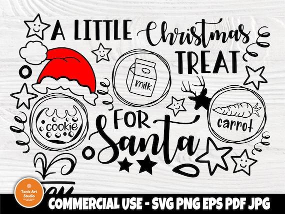 Dear Santa Tray SVG, Milk and Cookies Svg, Reindeer Food Svg, Santa plate Svg, Kids Christmas Svg, Holidays Svg, Doodle Tray Svg, Cricut Svg