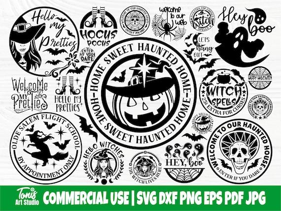 Halloween SVG Bundle, Farmhouse Round Sign Designs
