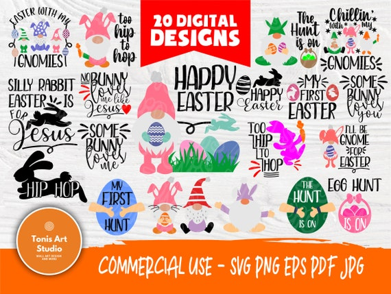 Easter Quotes SVG | Easter Gnome Svg | Happy Easter Svg | My First Easter Svg | Easter Cut Files | Svg Files for Cricut | Silhouette Files