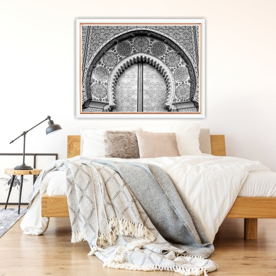 Moroccan decor Black and White, Printable art, Boho Wall Art, Architecture  print, Moroccan Door Print, Travel photography, Digital Download.