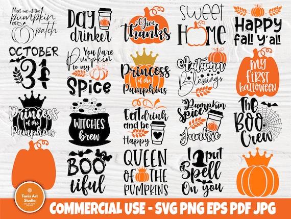 Halloween SVG Bundle, Pumpkin Signs, Fall Shirt