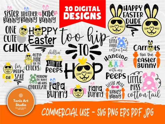 Easter SVG Bundle | Easter Svg | Kids Easter Quotes | Easter Cut Files | Cricut, Silhouette Files | Bunny Svg | Easter Shirt | Cutting File