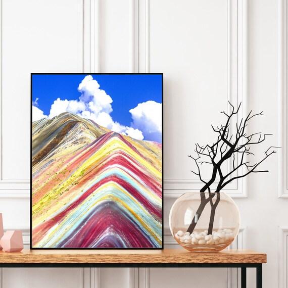 Rainbow Mountain Peru Wall Art, Digital Download, Travel Photography Print, Colourful Wall Art, Boho Decor, Landscape Wall Art, Home Decor.