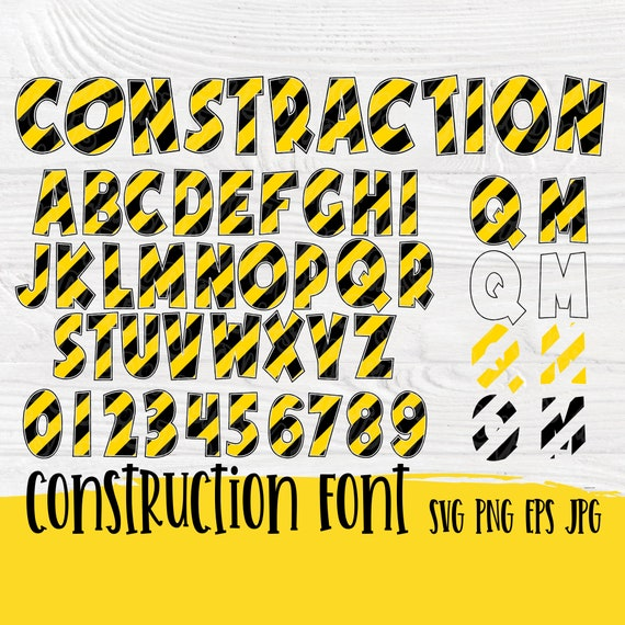 Construction theme SVG | Under construction | Construction svg | Letters and numbers svg | Construction cut files | Kids Birthday svg