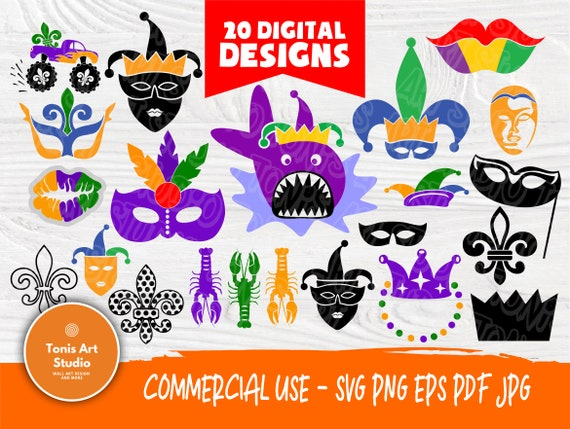 Mardi Gras SVG Bundle | Carnival Svg | Mask Queen Svg | Mardi Gras Clipart | Mardi Gras Silhouette | Cut Files for Crafters | Parade Party