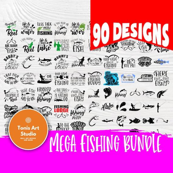 Fishing SVG Bundle, Fishing Signs, Lake Signs Svg