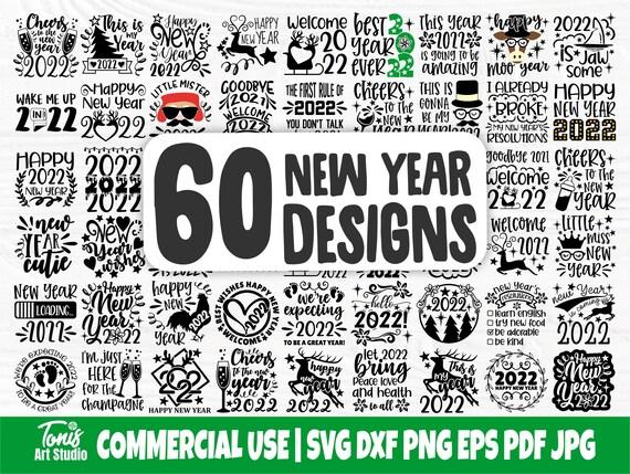Happy New Years SVG Bundle, 2022 Svg, Kids Svg Png