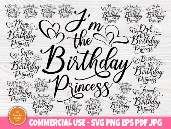 Birthday girl SVG, Princess Shirt Svg Cut Files