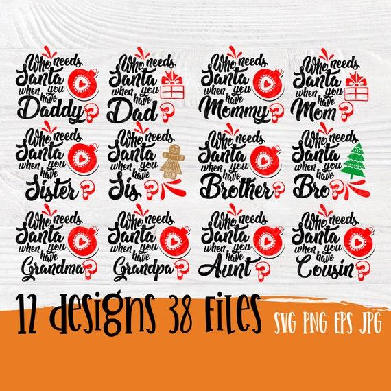 Christmas santa family SVG   Family quotes svg   Santa svg   Cut files for cricut silhouette   Family christmas signs   Family svg designs
