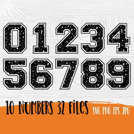 Varsity numbers SVG   Grunge svg   Birthday numbers   Numbers CUT FILES   Distressed number svg   Svg files for cricut and silhouette cameo