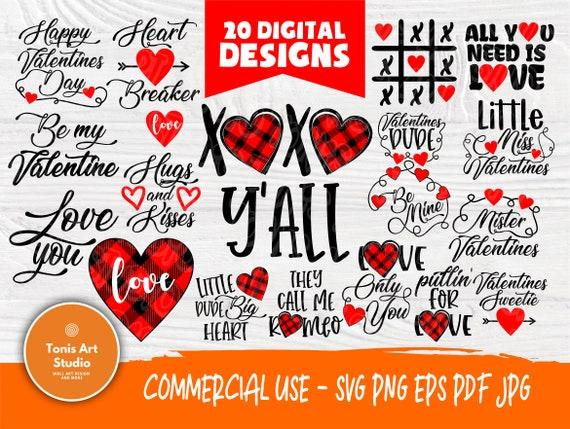 Valentine SVG Bundle   Kids Valentines Day   Love Svg   Valentines cut files   Cut Files for Crafters   Valentine's Cricut files   Heart Svg