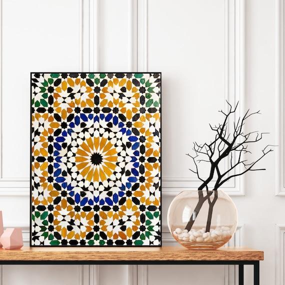 Moroccan Pattern Printable, Moroccan Tiles Print, Boho art print, Bohemian decor, Large wall art, Travel photography, Digital Download.