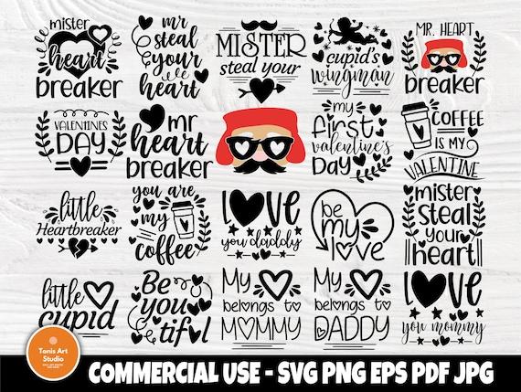 Kids Valentines SVG Bundle, Valentines Day Shirts