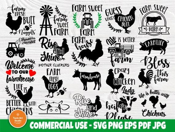Farm SVG bundle | Farmhouse quotes svg | Farm svg | Farm life svg | Farm signs svg | Farm clipart | Farm silhouette | Svg cut files