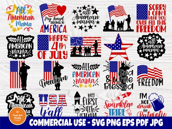 4th of July SVG Bundle, American Flag Svg, USA Svg
