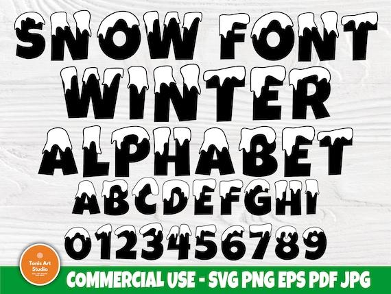Snow Font SVG | Winter Alphabet | Christmas Svg | Winter Letters | Snow Monogram | Svg Files for Cricut and Silhouette | Snow Letters Svg