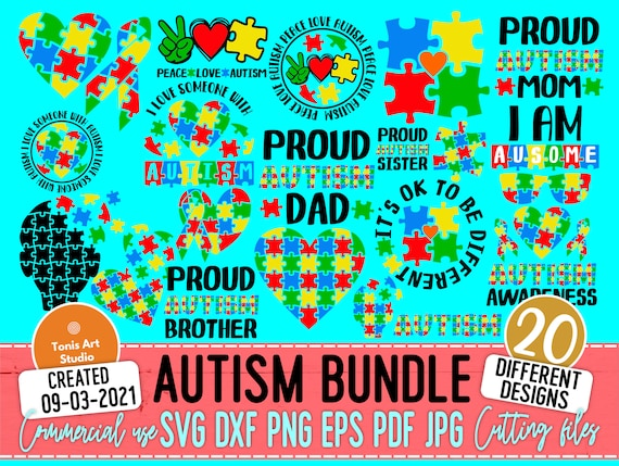 Autism SVG Bundle, Autism Awareness, Autism Mom