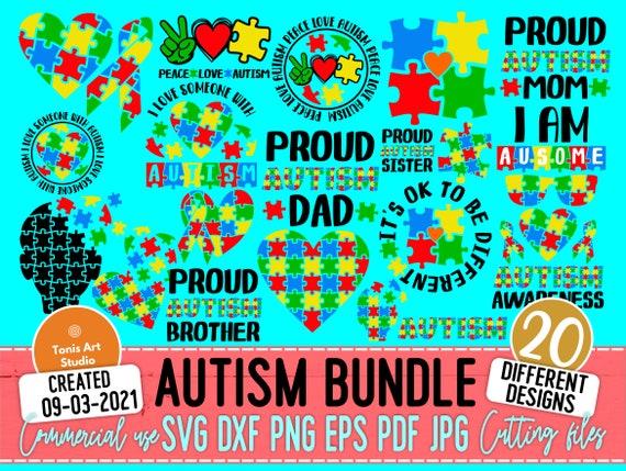 Autism SVG Bundle, Autism Awareness, Autism Mom