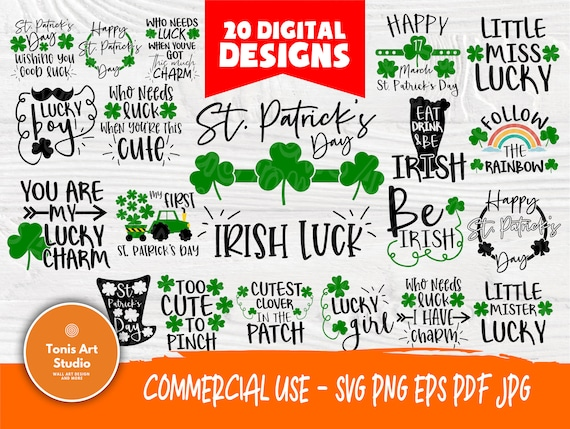 St Patrick's Day SVG Bundle   Funny St Patrick's Signs   Irish Svg   Lucky Svg   St Patricks  Designs   Cricut and Silhouette Files