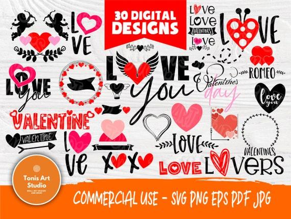 Love SVG Bundle | Love Svg | Valentines Svg | Heart Svg | I Love You Svg | Cut Files for Crafters | Valentines Cut Files | Lovers Svg