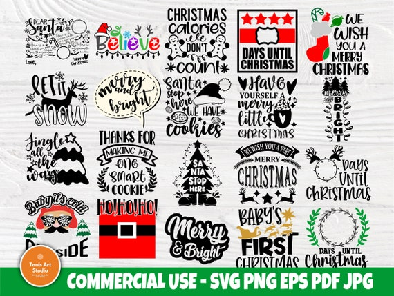 Christmas SVG Bundle, Merry Christmas Svg Cut File