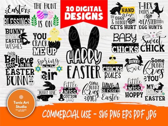 Easter SVG | Happy Easter Svg | Easter Svg Designs | Bunny Svg | Boy Svg | Girl Svg | Easter Cut Files | Easter Signs | Svg Png Pdf Eps Jpg