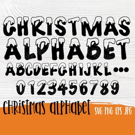 Christmas font SVG | Christmas letters svg | Christmas svg | Letters CUT FILES | Christmas alphabet svg | Snow font svg | Winter font svg