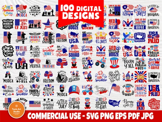 4th of July SVG Bundle, Svg Cut Files, USA Svg