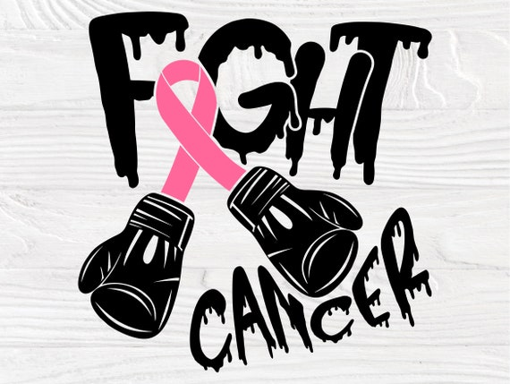 Fight Cancer SVG, Breast Cancer Svg, Ribbon Svg