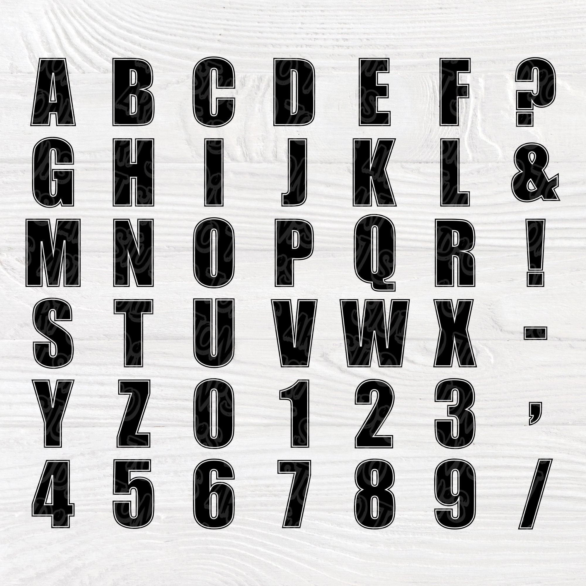 Download Full alphabet SVG | Cricut font svg | Letters numbers and ...