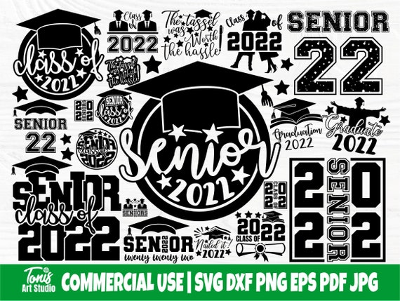 Graduation SVG Bundle, Senior 2022 SVG, Class of 2022 Svg, Png