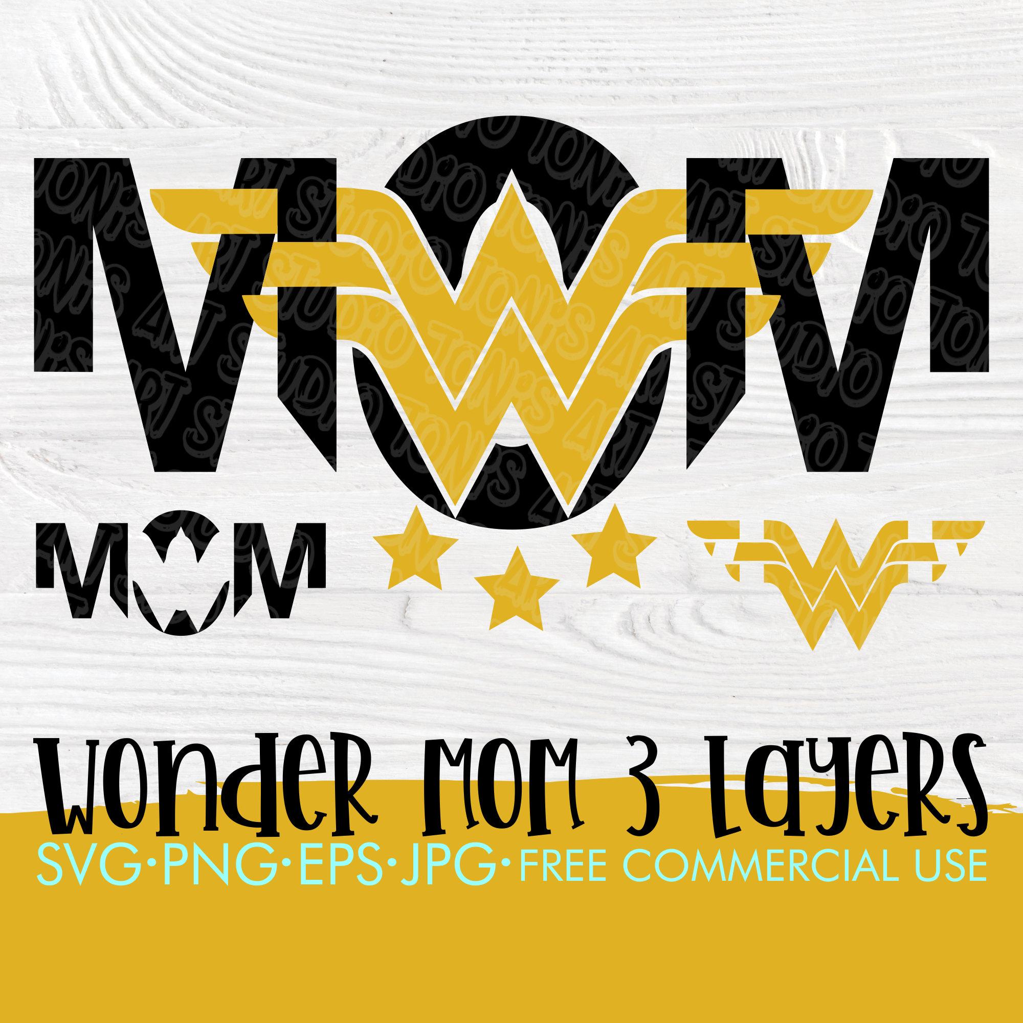 Svg for cricut and silhouette Wonder Woman Mom SVG Wonder woman svg Cutting files Svg shirt design Mom shirt svg Mom cut files