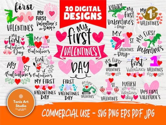 Valentine SVG Bundle   Kids Valentines Day   Love Svg   My First Valentine   Cut Files for Crafters   Valentine's Cricut files   Heart Svg