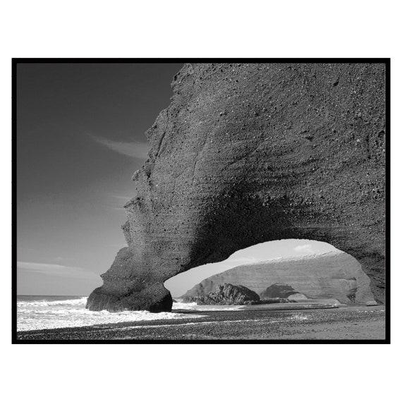 Moroccan decor Black and White Printable, Digital Download, Bohemian decor, Beach Print, Black and White wall art, Travel photography.