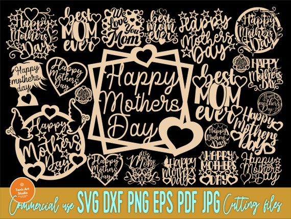 Mothers Day SVG Bundle, Mom Cake Topper Svg, Png