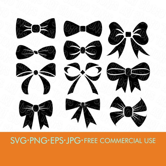 Bow Svg Bow Bundle Svg Bows Svg Bow Silhouette Cut Files Etsy
