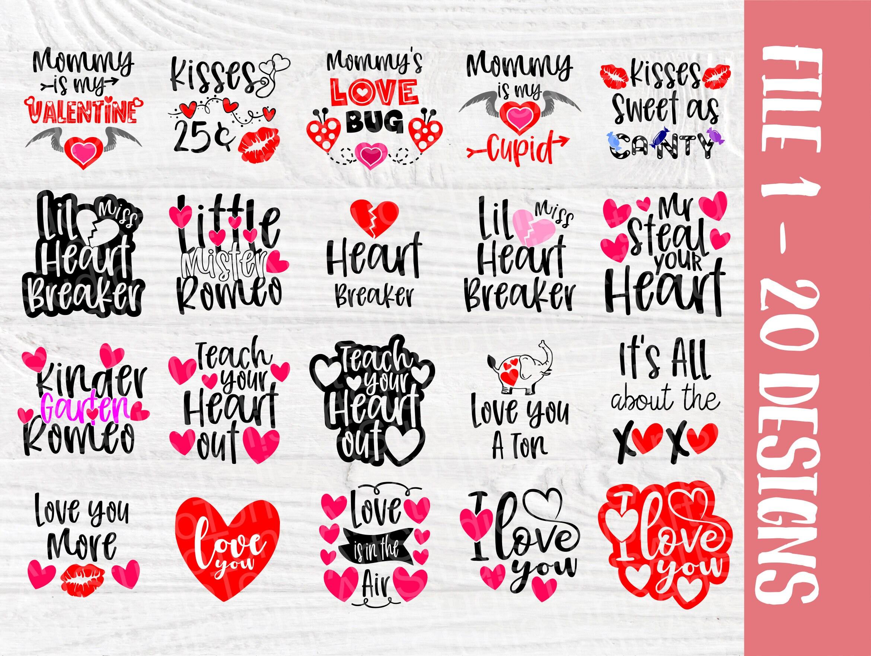 Download Valentines SVG Bundle | Kids Valentines Day | Love Svg ...